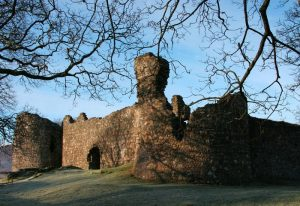 Entrance to old Inverlochy Castle